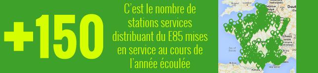 +150 stations au cours de l'année