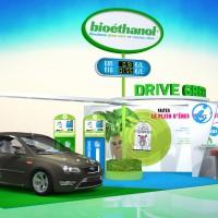 Image 3d représentant le stand du bioéthanol au Mondial de l'Automobile 2014 à Paris